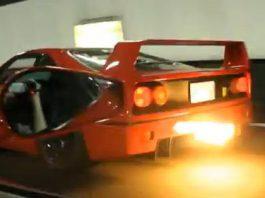 Ferrari F40 Spits Flames
