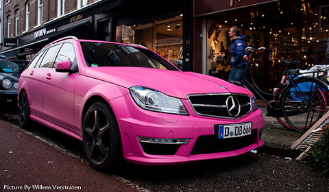 Overkill: Pink Mercedes C63 AMG Estate