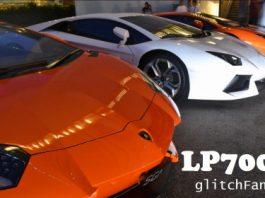 Video Eight Lamborghini Aventadors in One Car Park