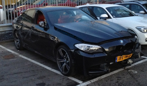 Car Crash First BMW F10M M5 Wrecked in The Hague