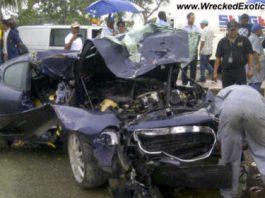 Car Crash Maserati Gransport Wrecked in Dominican Republic