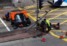 Car Crash Pagani Zonda F Wrecked in Hong Kong