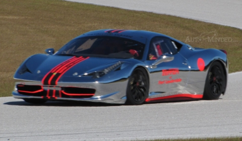 Chrome Ferrari 458 Challenge at Cavallino Classic Trackdays