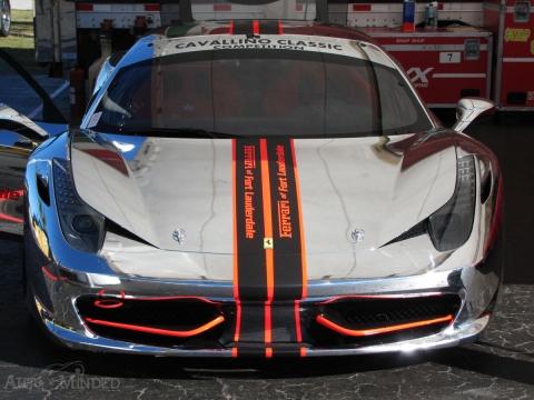 Chrome Ferrari 458 Challenge at Cavallino Classic Trackdays 01
