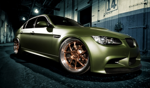 Matte Green BMW M3 with Copped Plated ADV.1 TRAKfunctions