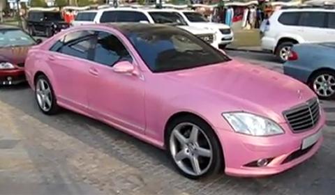 Overkill Pink Mercedes-Benz S500