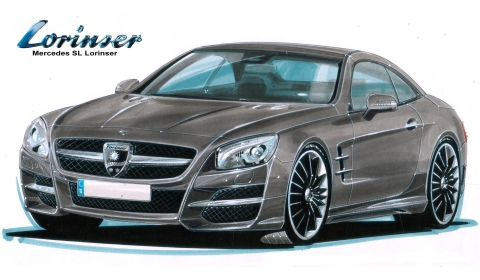 Rendering 2013 Mercedes-Benz SL-Class by Lorinser