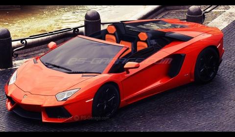 Rendering Lamborghini Aventador Roadster
