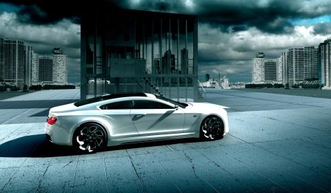 Rendering White BMW 8 Series Concept by Ismet Çevik