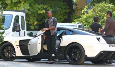 Samuel Eto'o Football Player and his Mansory 599 Stallone