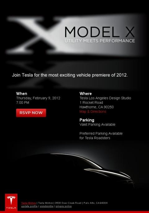 Teaser Tesla Model X Crossover 01