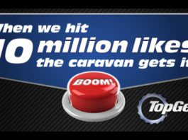 Top Gear Celebrate 10 Million Facebook Fans by Blowing up Caravan