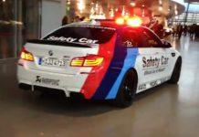 Video BMW F10M M5 Safety Car witih Akrapovic Exhaust Roars Inside BMW Welt