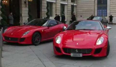 Video Ferrari 599 SA Aperta in Paris