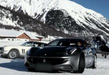 Video Ferrari FF vs Jensen FF at St Moritz