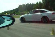 Video Lamborghini Gallardo LP570-4 Performante vs Audi RS6 Sedan
