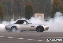 Video Modified BMW Z8 Burns Rubber