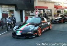 Video Porsche 997 GT3 RS Mk1 with Italian Flag Livery