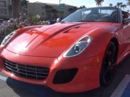 Video Rosso Dino Ferrari 599 SA Aperta in Los Angeles