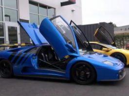 Video Two Lamborghini Diablo GTRs on the Streets of California