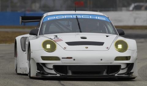 Four 2012 Porsche 911 GT3 RSR Cars Debut at Sebring Test