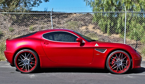 Alfa Romeo 8C Competizione on Forgiato Wheels