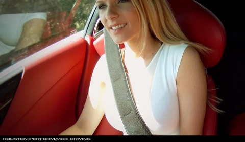 Beautiful Blonde in a Lexus LFA