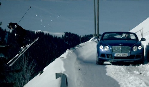 Bentley Continental GT Goes Off-Piste in Gstaad