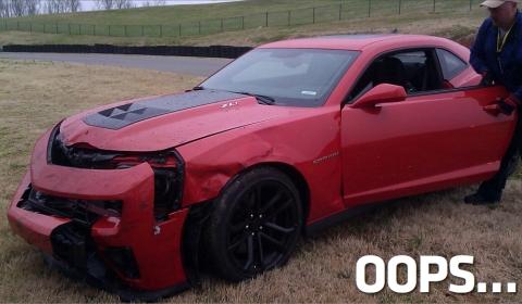Car Crash First Camaro ZL1 Crashed by Journalist at Virginia International Raceway