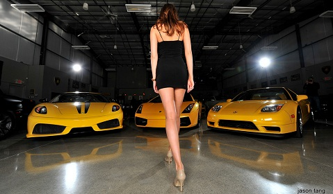 Yellow Supercars and Models