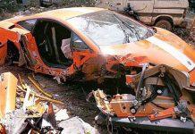 Fatal Lamborghini LP550-2 Balboni Wreck in India