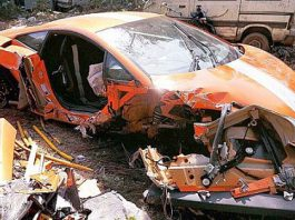 Fatal Lamborghini LP550-2 Balboni Wreck in India