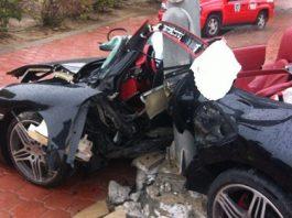 Fatal Porsche 997 Turbo Wreck in Kuwait