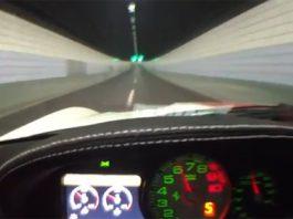 Video: Ferrari 599 GTO Goes Full Throttle Inside Tunnel