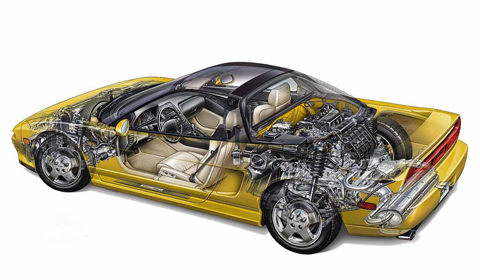 Honda NSX Cutout