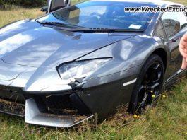 Lamborghini Aventador Wrecked in New Zealand
