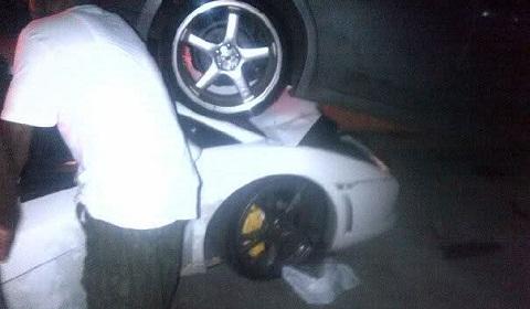Lamborghini Gallardo LP560-4 Wrecked in Trinidad