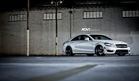 Matte White Mercedes-Benz CLS 63 AMG on ADV.1 Wheels