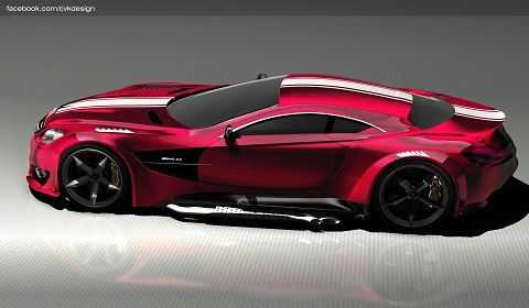 Mercedes-Benz CL GTR Concept by Ismet Çevik