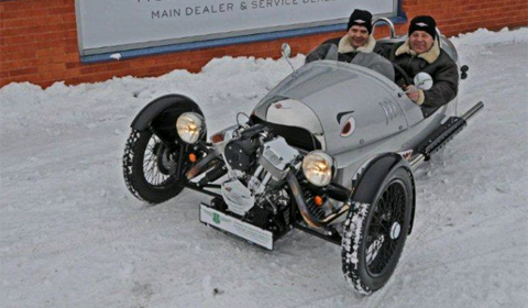 Morgen 3 Wheeler Land Speed Record Attempt on Ice