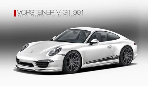 Teaser Porsche 911 (991) V-GT by Vorsteiner