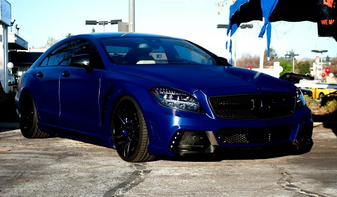 Wald International Mercedes CLS in Brushed Aluminium Blue