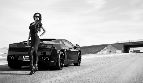 Cars & Girls Lamborghini Gallardo LP550-2 Black Series & Joli Robinson