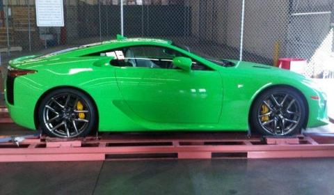 Green Lexus LFA Nr 250 Hits Stateside