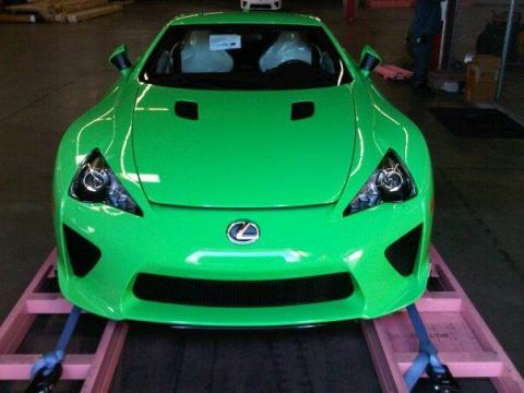 Green Lexus LFA Nr 250 Hits Stateside 01