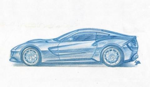 Sketch Ferrari F620 GT Heading to Geneva Auto Salon 2012