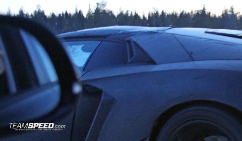 Spyshots 2013 Lamborghini Aventador Roadster Winter Testing