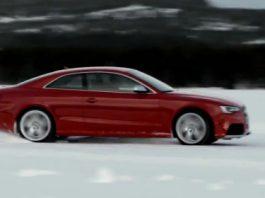 Video 2013 Audi RS5 Facelift Snow Drifting