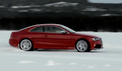 Video 2013 Audi RS5 Facelift Snow Drifting