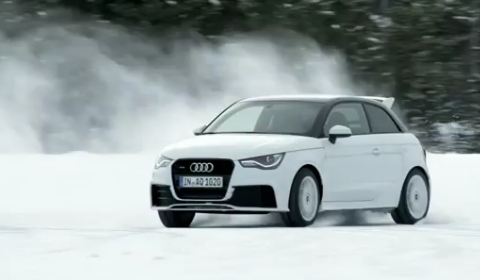 Video Audi A1 Quattro Snow Drifting
